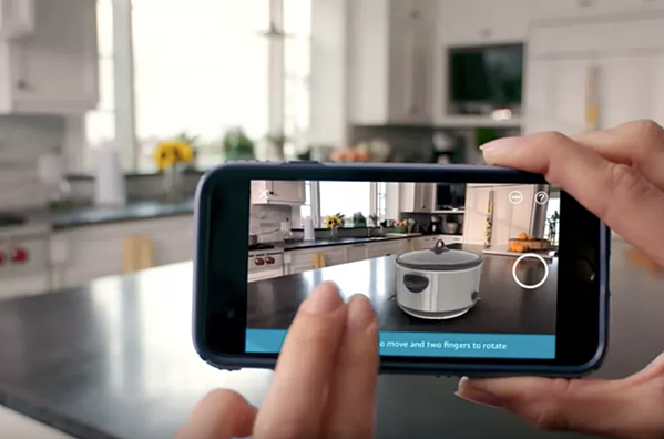augmented reality AR in app for ux
