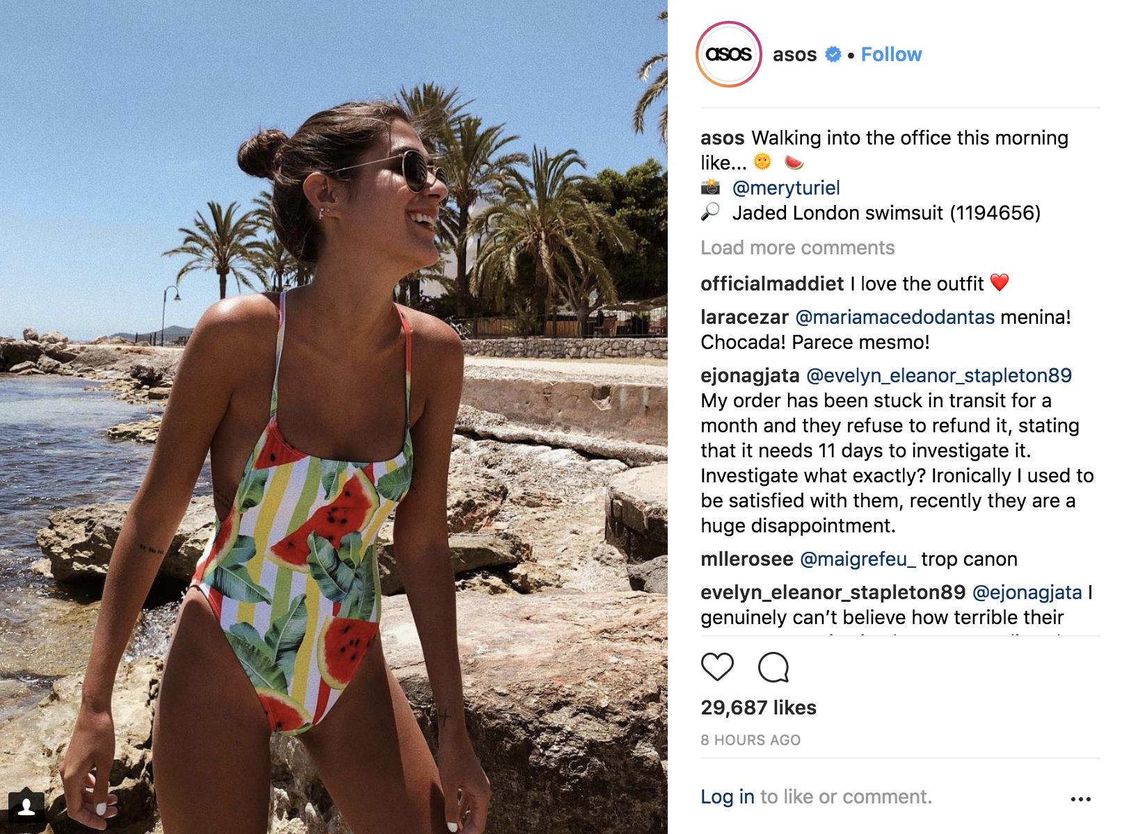 ASOS customer shares