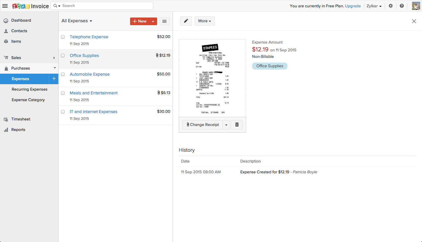 zoho invoice best free accounting software