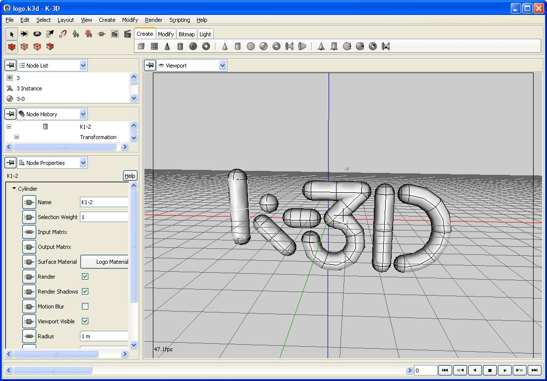 k3d best free animation software