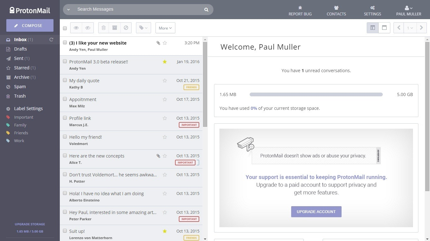 protonmail best free email software