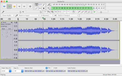 audacity best free music making software