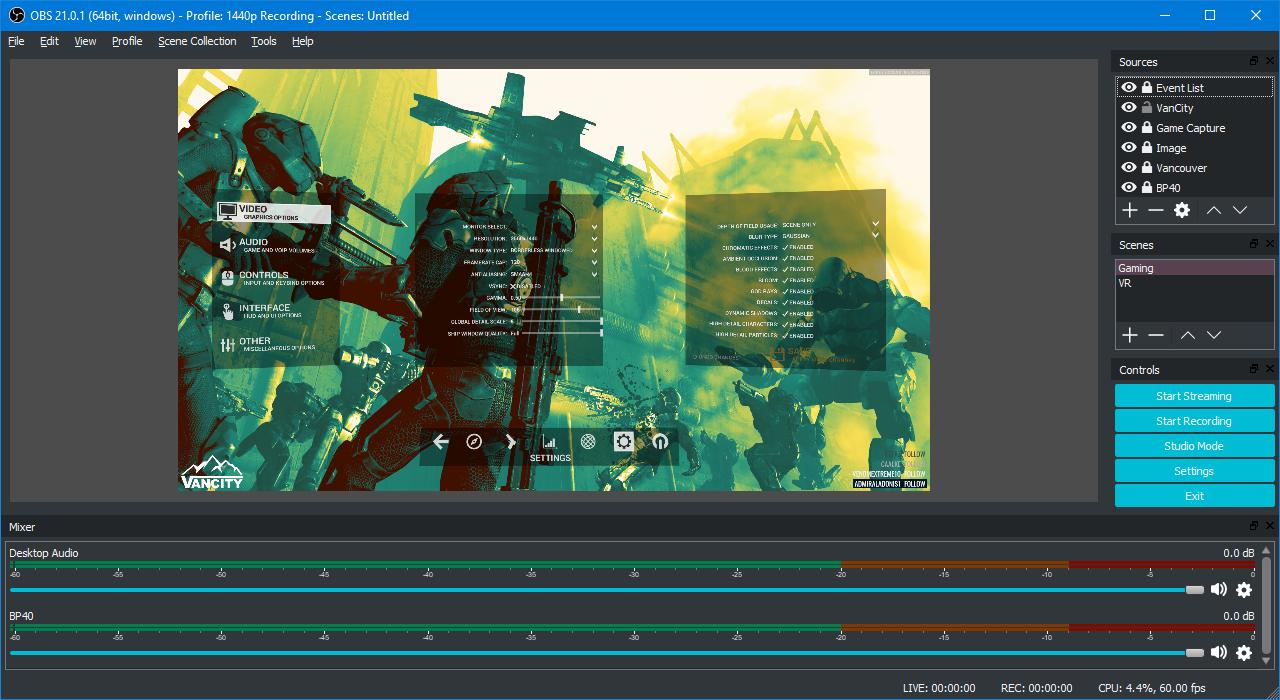 open broadcaster software best free screen capture software