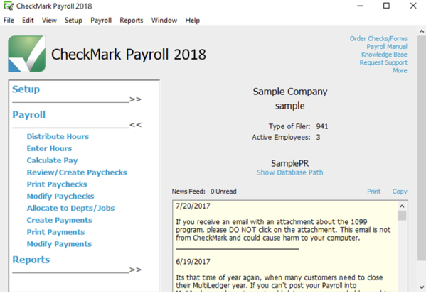 small business payroll software free