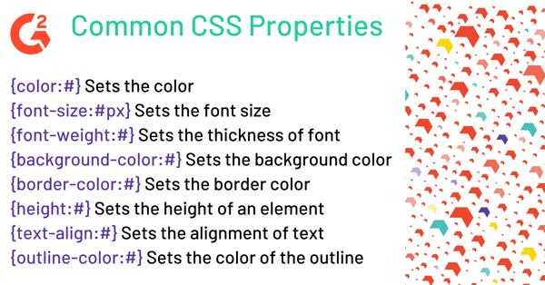 Common CSS Properties