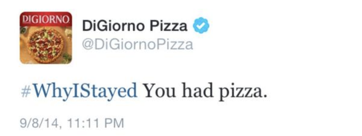 DiGiorno Why I Stayed