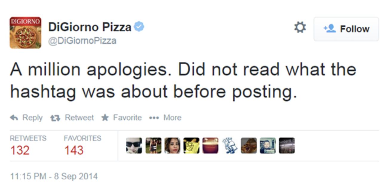 DiGiorno Why I stayed apology