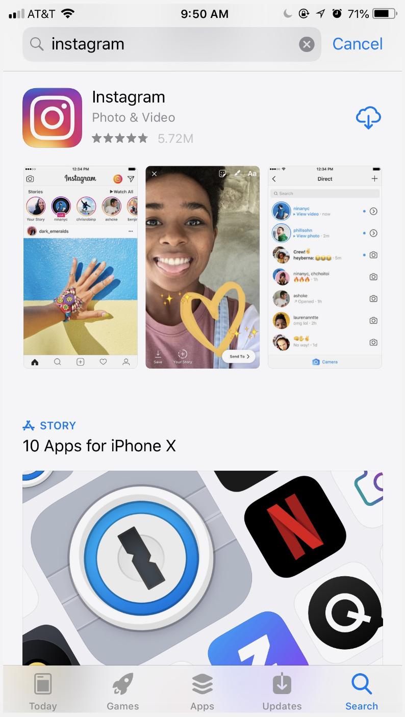 Download the Instagram app