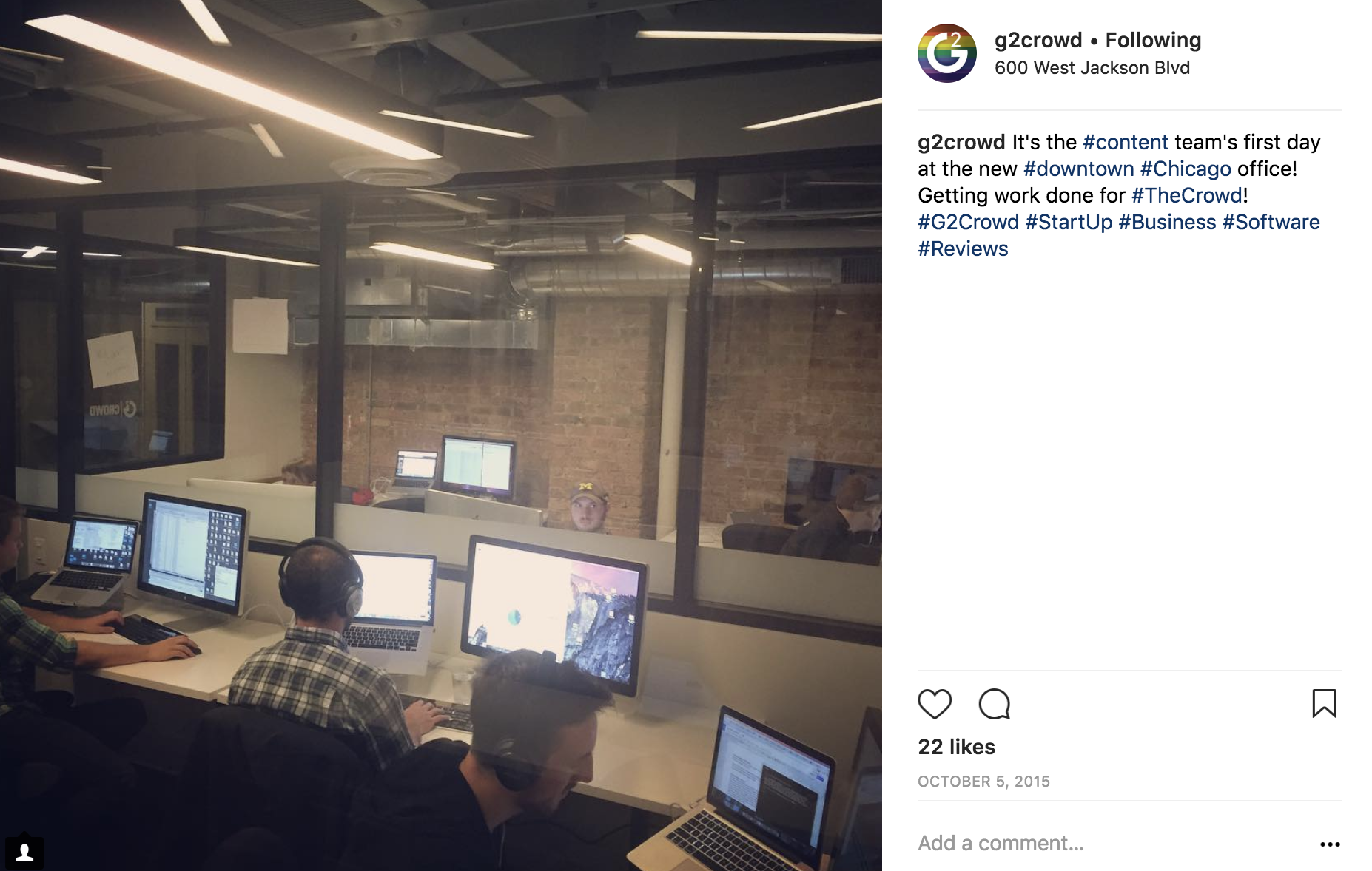 G2 Crowd Instagram