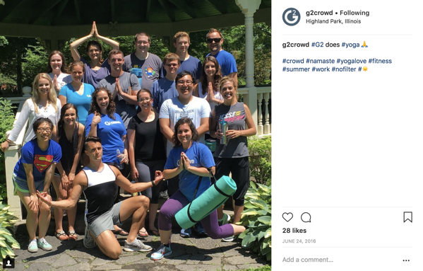 G2 Crowd yoga Instagram