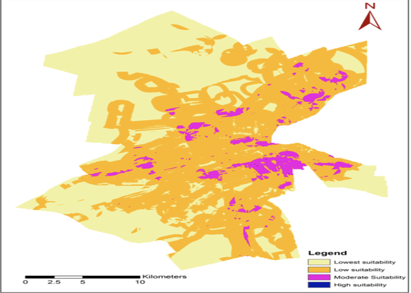 GIS Map showing which areas are best suited for a new shop