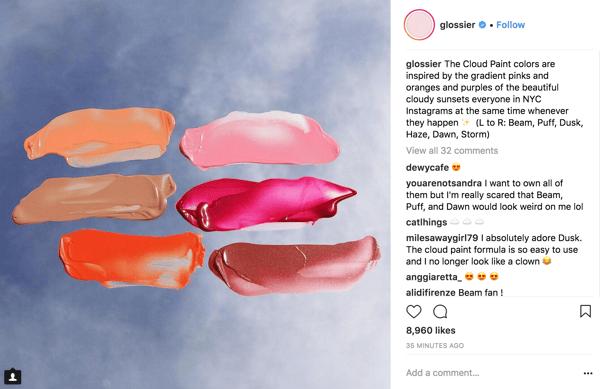 Glossier Instagram