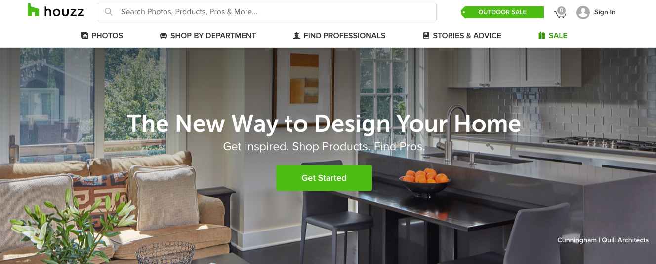 Houzz is a home renovation online marketplace.