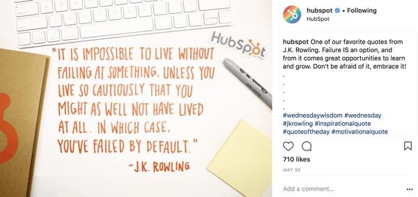 HubSpot Motivational Instagram