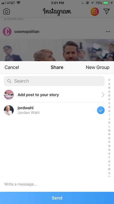 Instagram DM_add optional message
