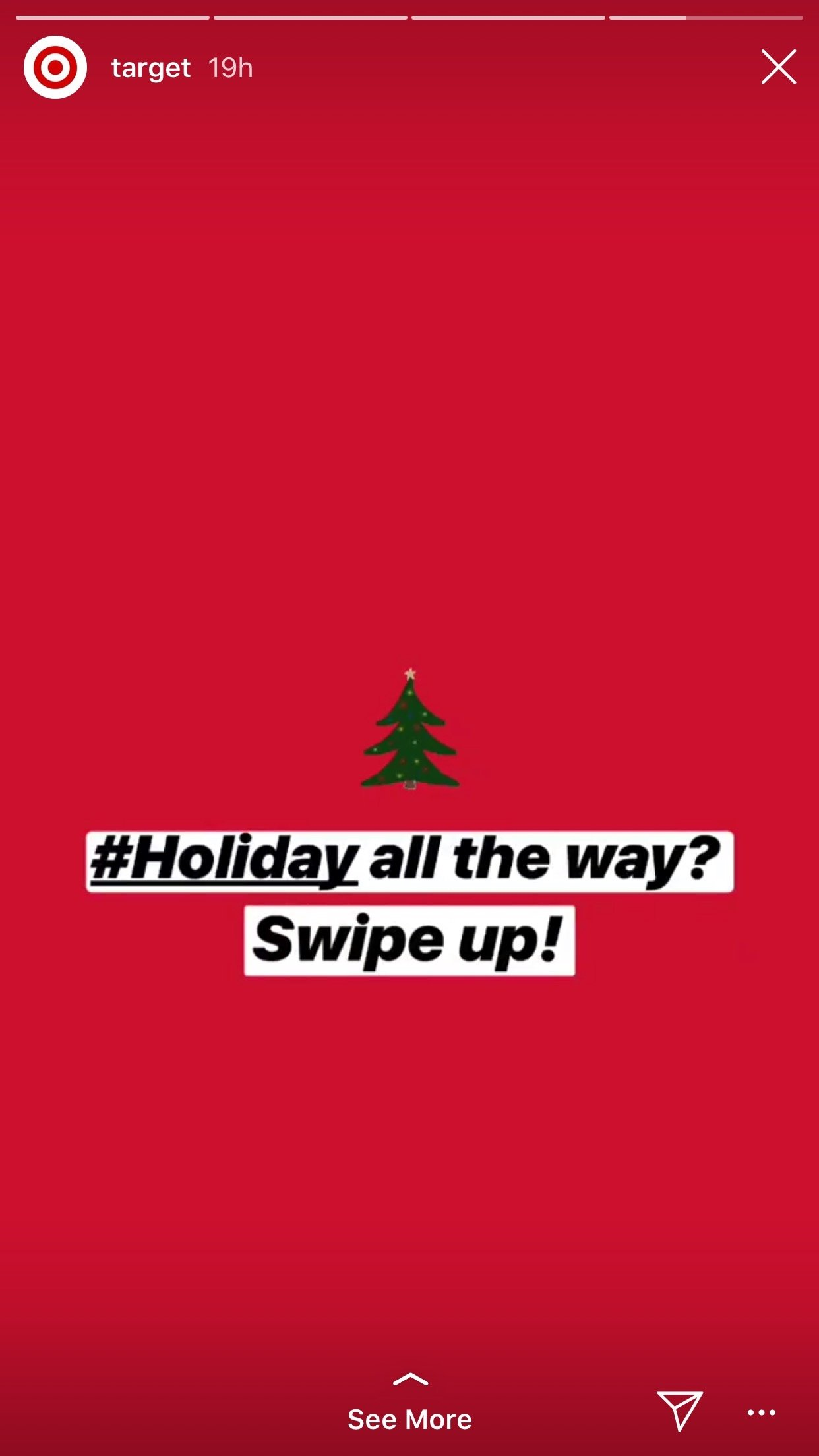 Christmas Instagram story from Target