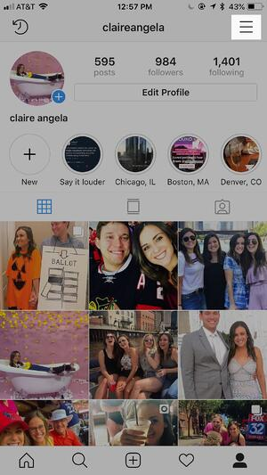 How to get a verified account on Instagram step 2