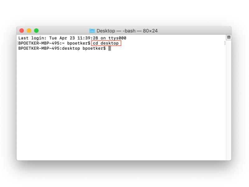 changement de répertoire pour Java dans Terminal