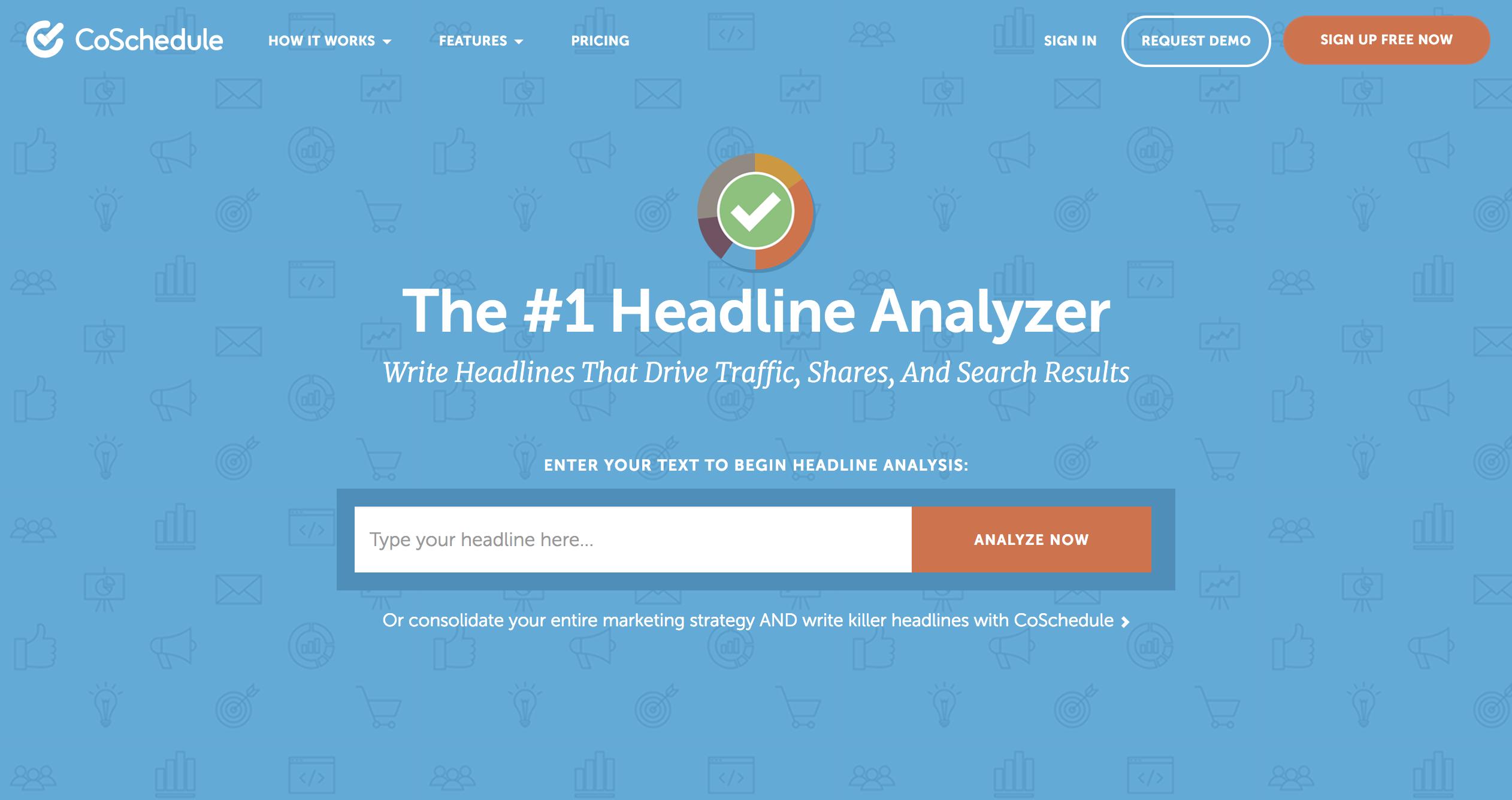 Free Tools - CoSchedule Headline Analyzer