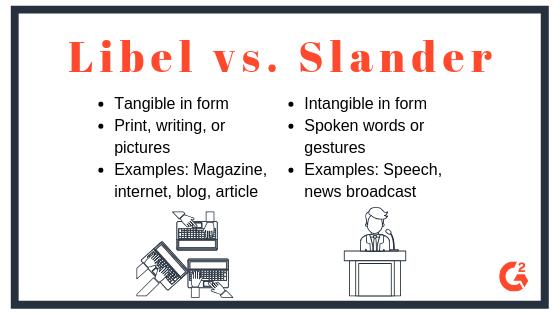 Differences between libel and slander