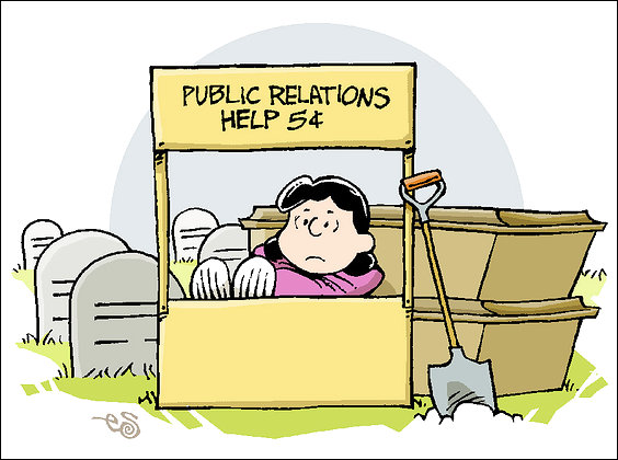 PR advice cartoon
