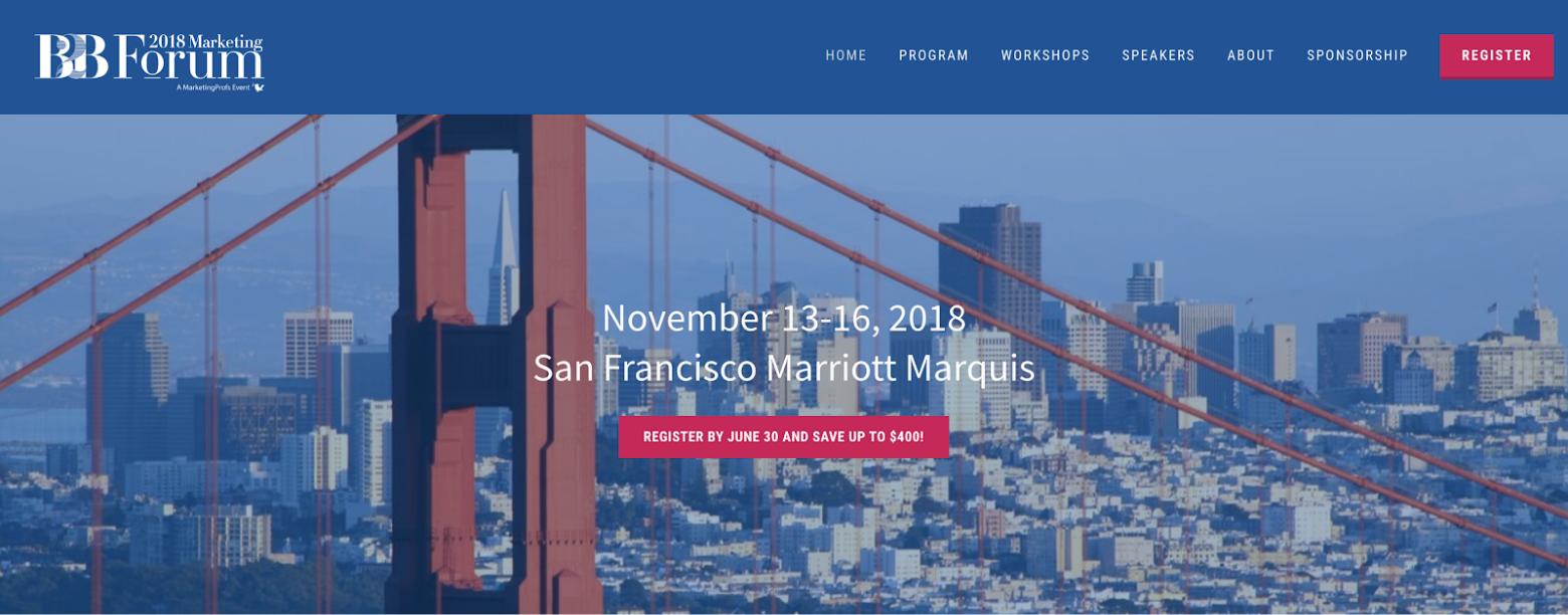 event-marketing-website