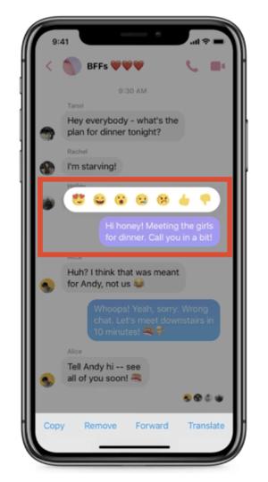 if u delete a message on facebook messenger