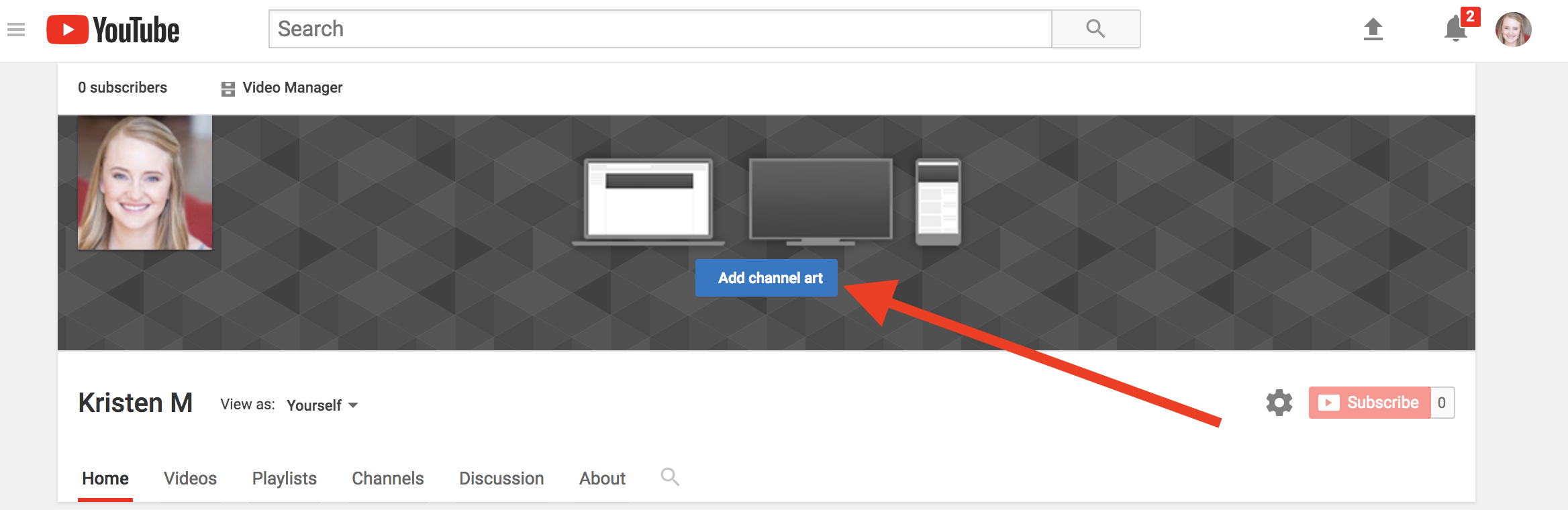 The Perfect Youtube Banner Size And Template Channel Art Ideas
