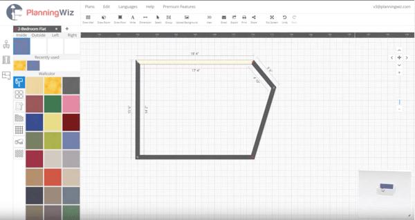 PlanningWiz free floor plan software