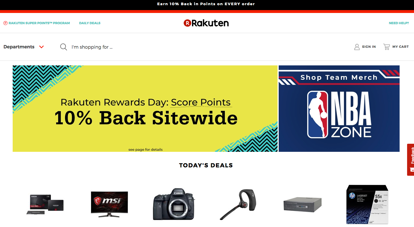 Rakuten charges smaller fees than many competitors.