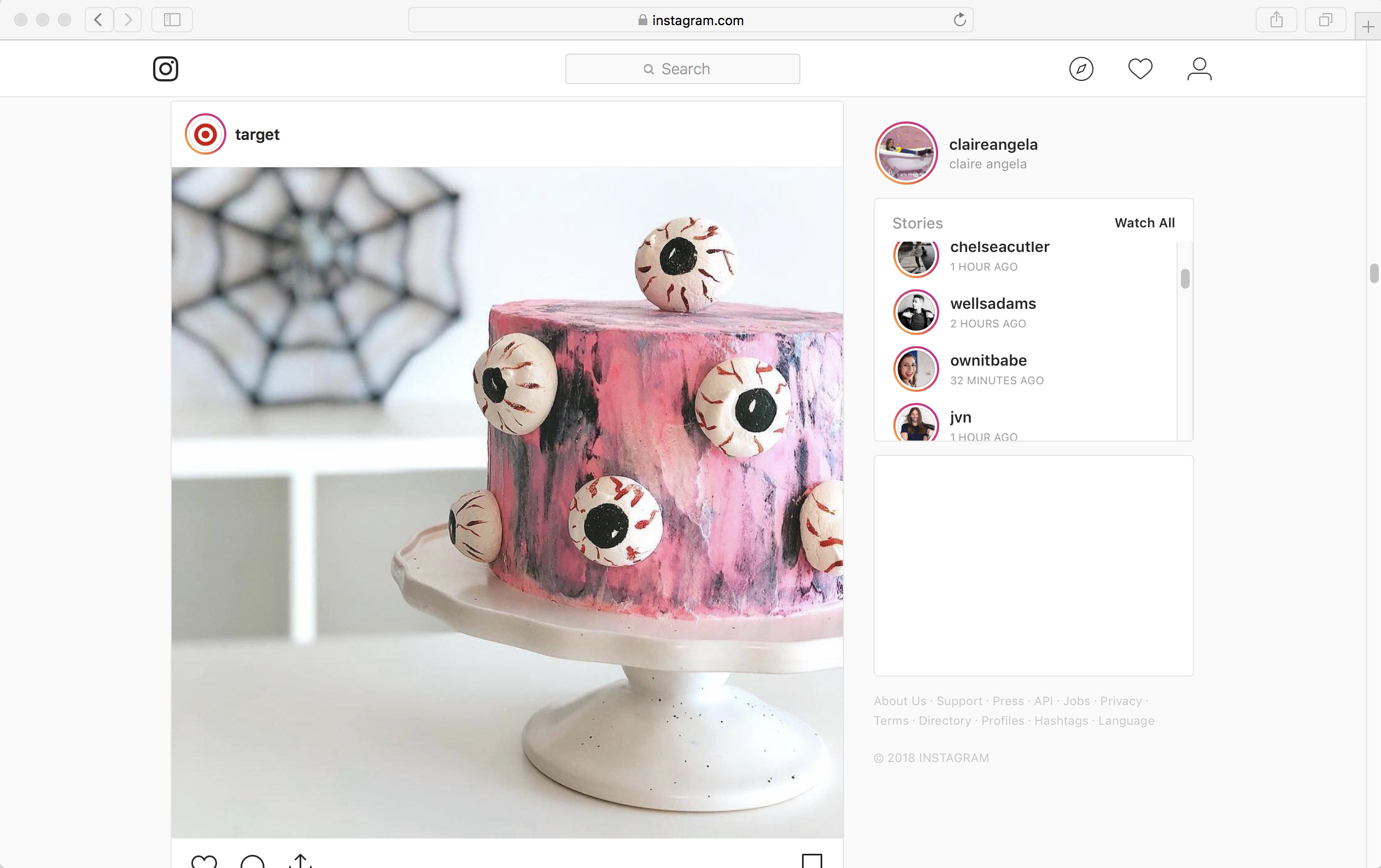 How to Post on Instagram from PC on Safari Step 1