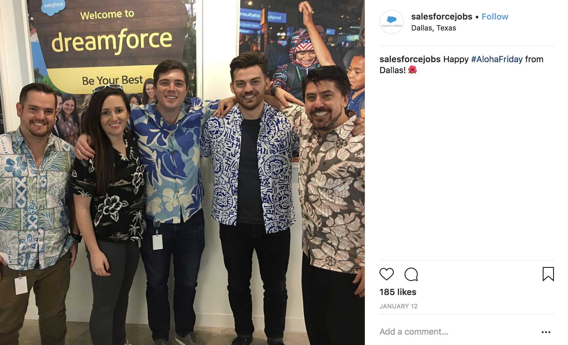 Show off employees on Instagram