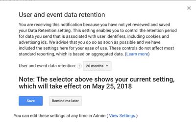Google Analytics GDPR