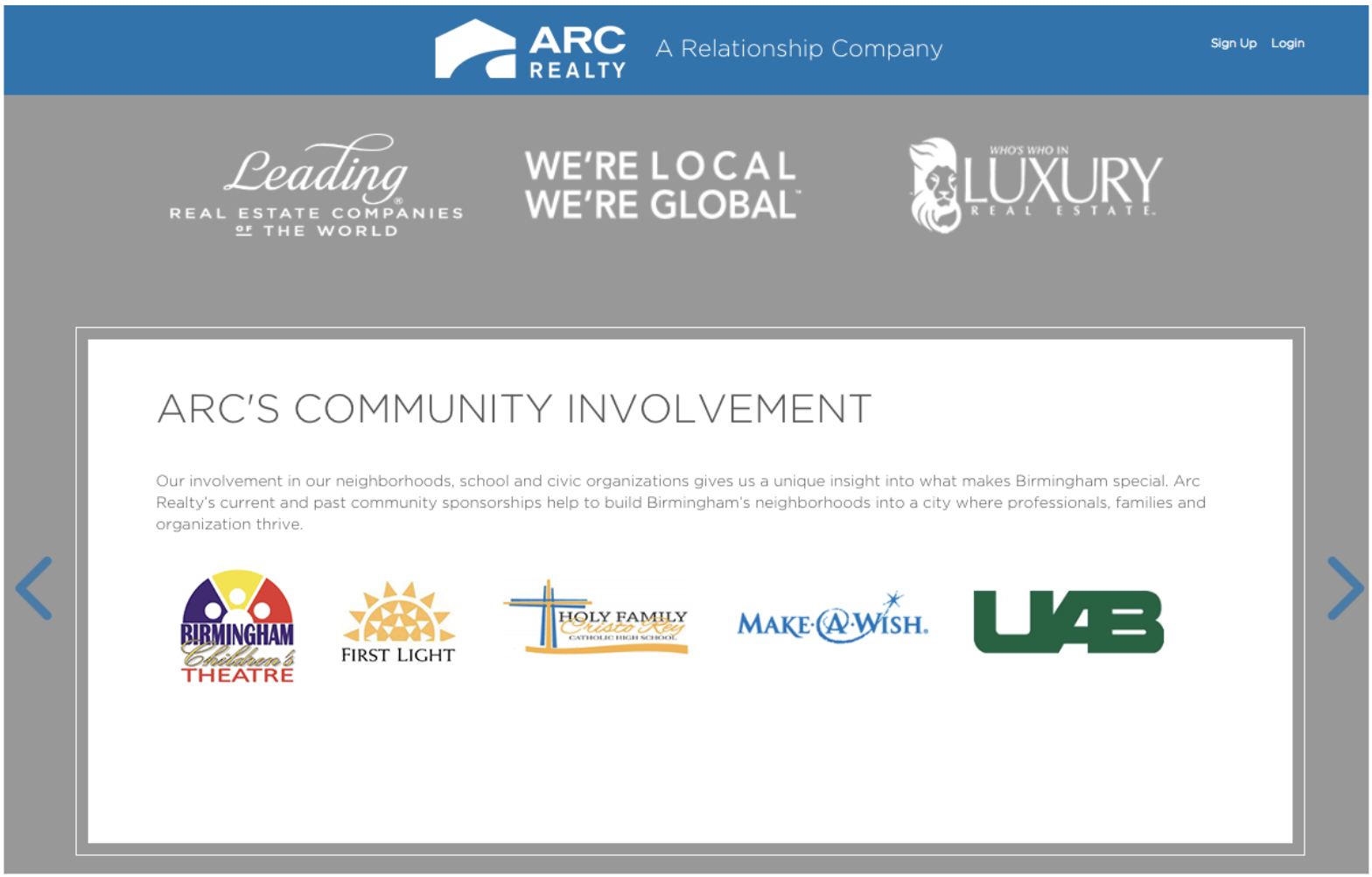 Community involvement trust section of a realtor