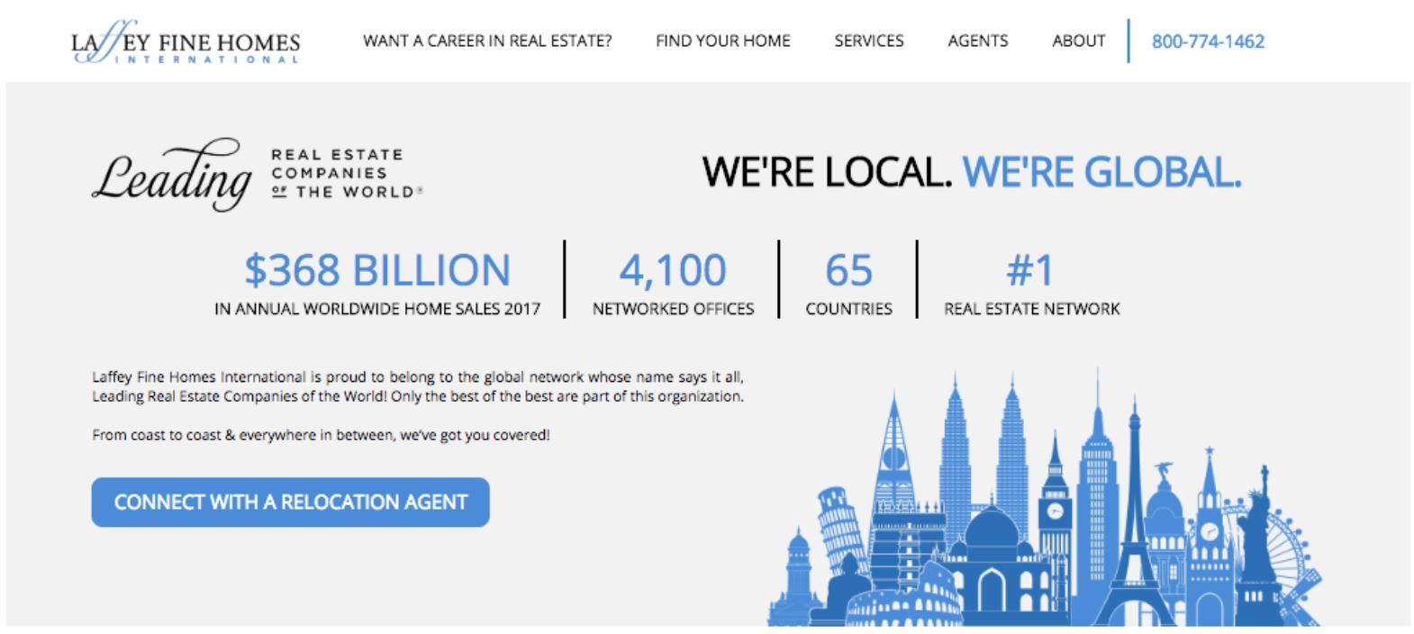 Global trust section of realtor website
