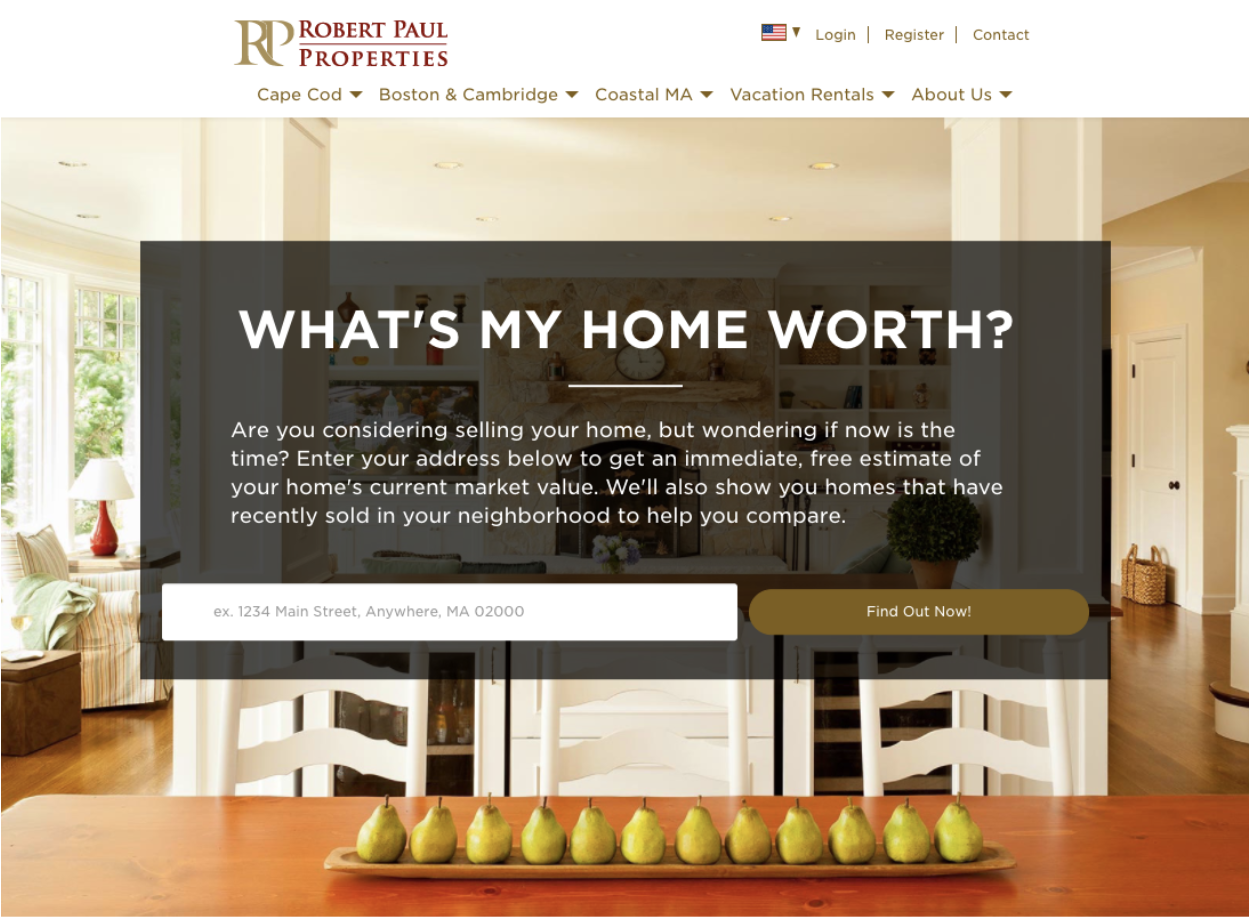 Home worth real estate calculator