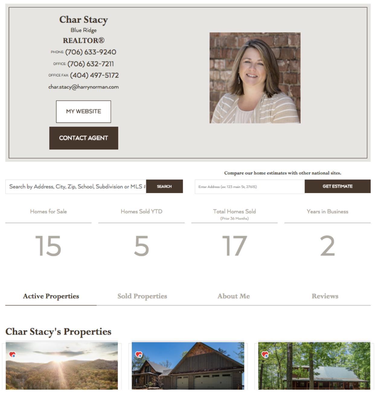 Real estate agent profile