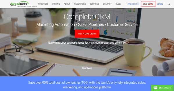 GreenRope CRM Homepage