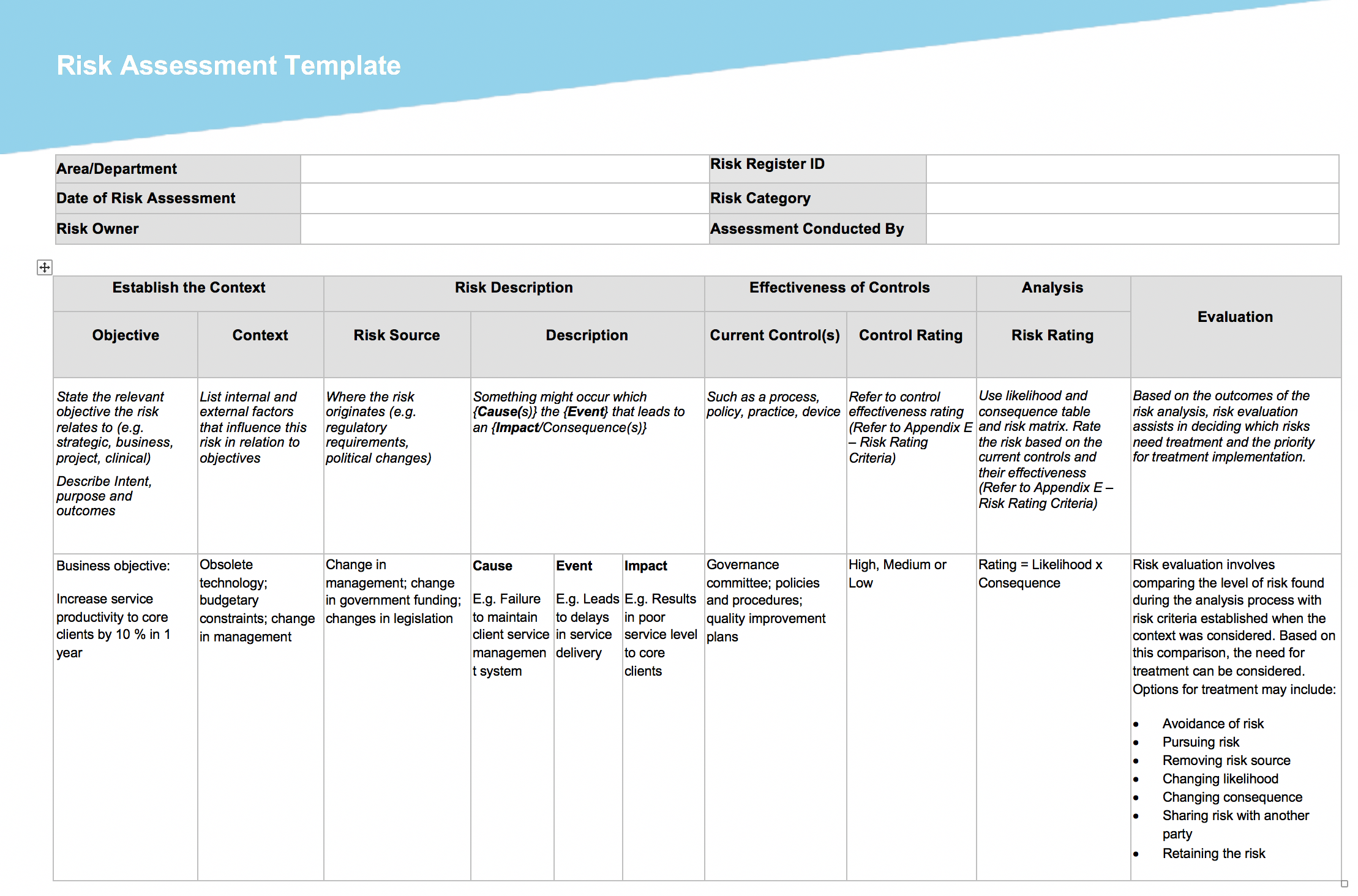 29 free project management templates for creative agencies risk assessment template creative govuk flashek Images