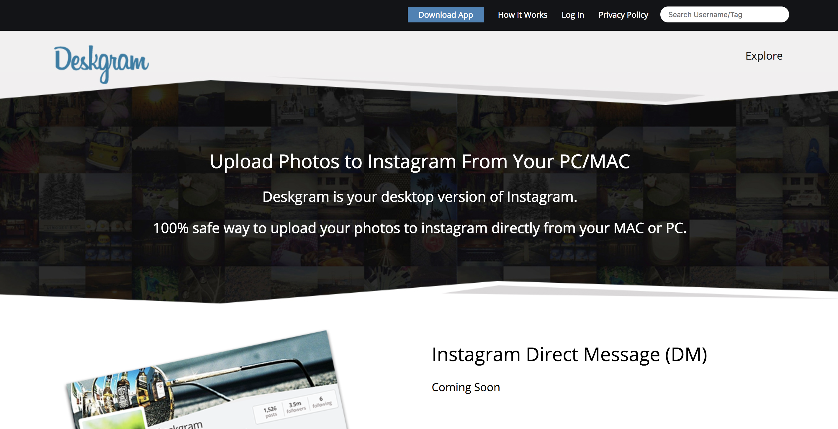 How to post on Instagram from PC on Deskgram