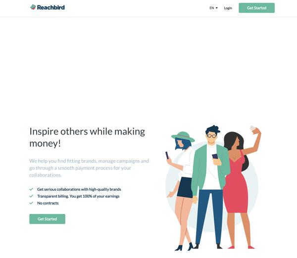 Reachbird influencer marketing tool