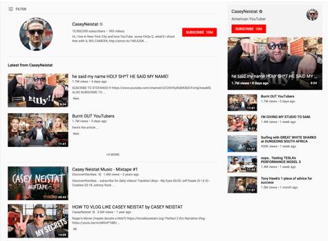 Casey Neistat YouTube Channel