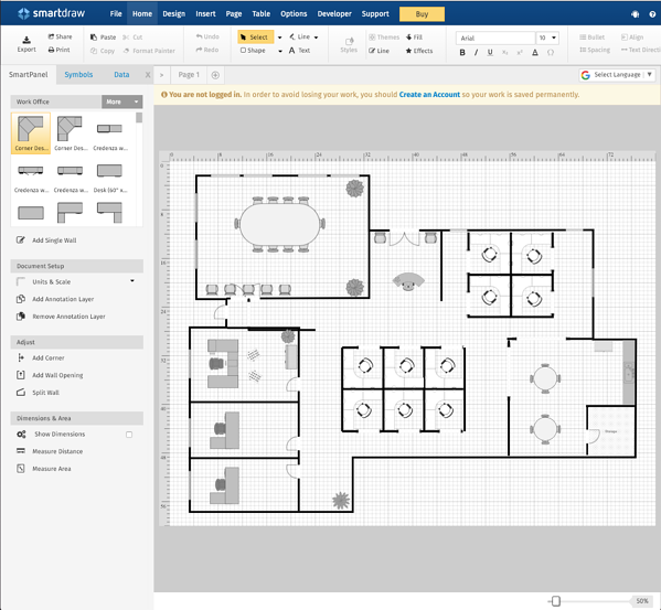 11 best free floor plan software tools in 2019. Black Bedroom Furniture Sets. Home Design Ideas