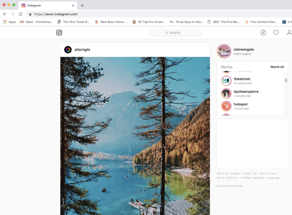 How to Post on Instagram from PC on Google Chrome Step 1