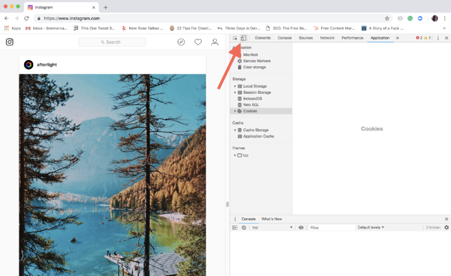 How to Post on Instagram from PC on Google Chrome Step 3