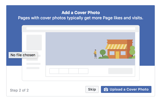Adding a Facebook business page cover photo