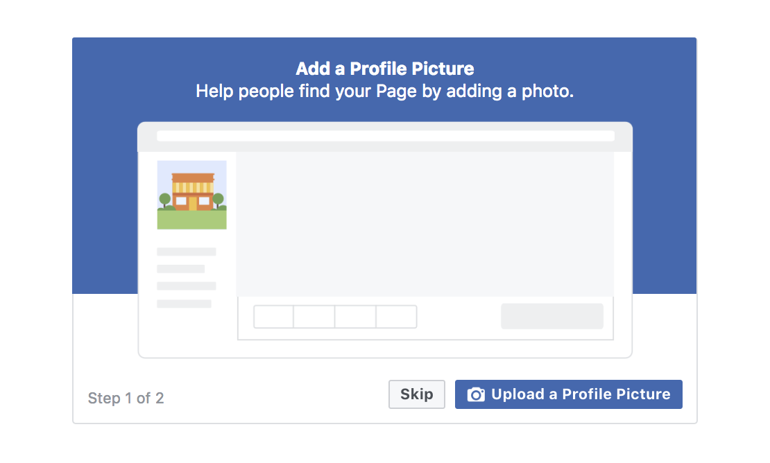 Adding a profile picture on Facebook business page