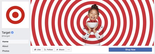 Target Facebook banner