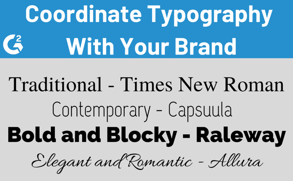 Coordinate Typography With Your Brand
