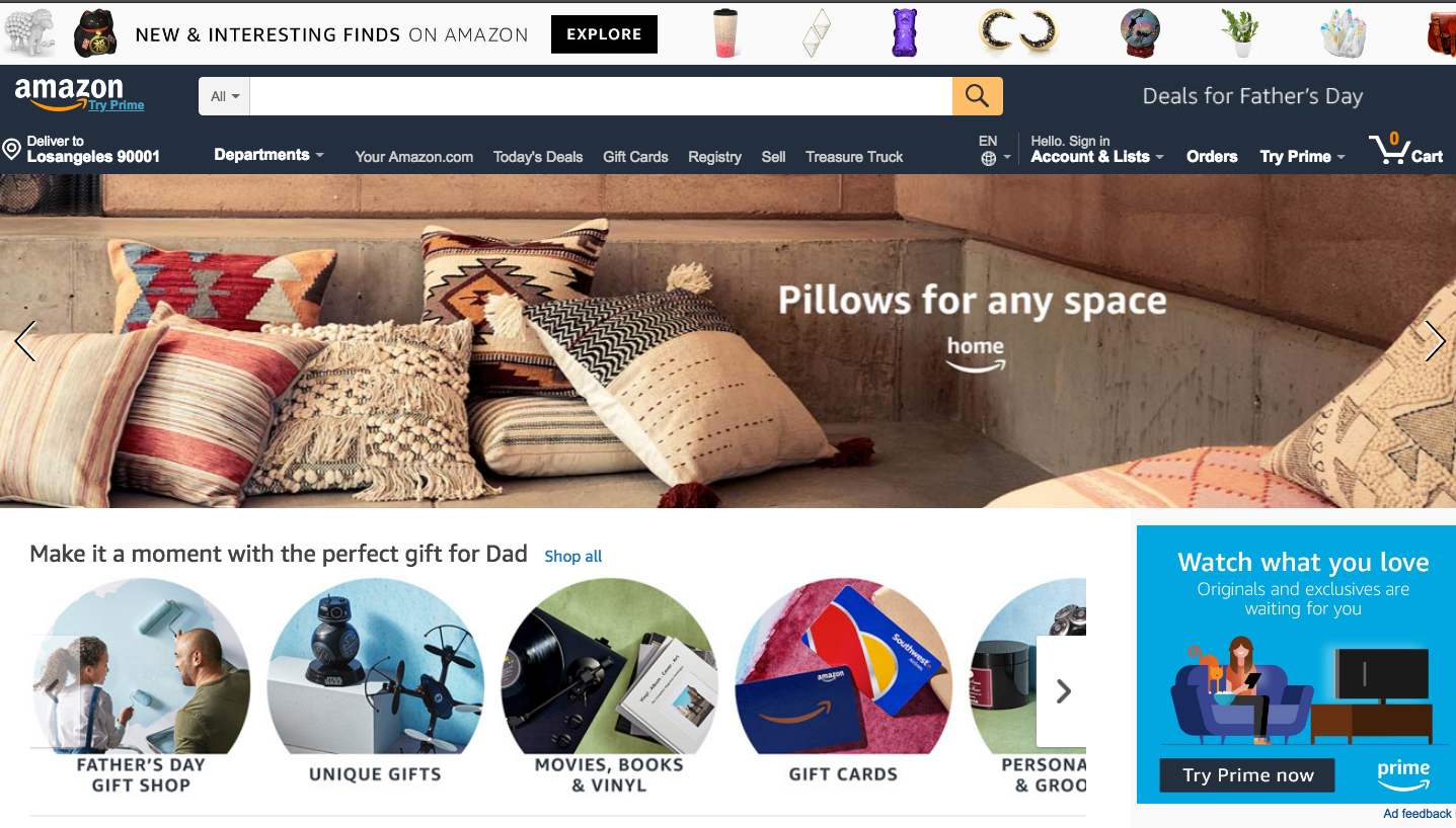Amazon's online marketplace is biggest in the U.S.